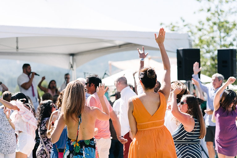 Guests dancing and having the best time of their lives at Kathryn Hall Release Party - Image