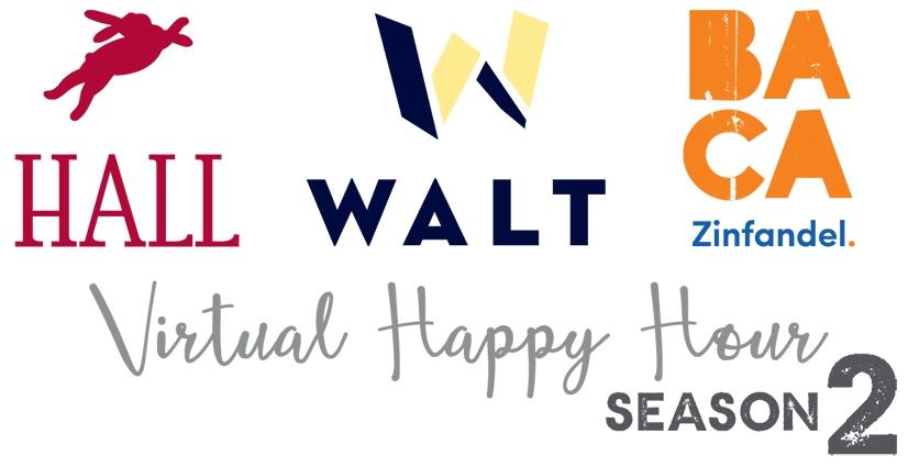 HALL, WALT & BACA Virtual Happy Hour Season 2 logos put together image