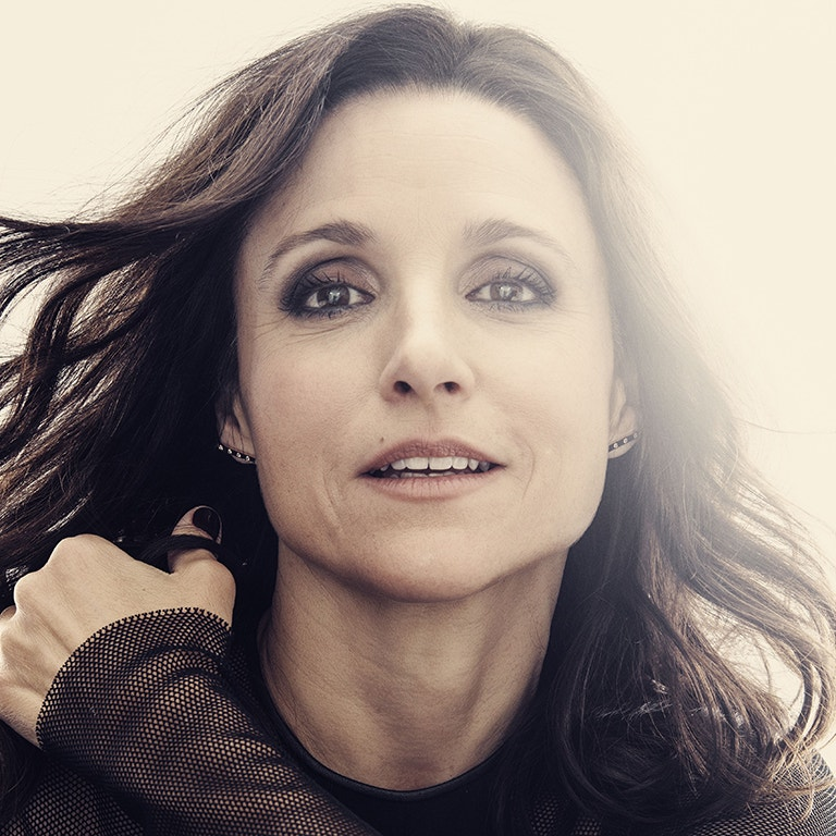 Photo headshot image of Emmy Award Winning Actress,  Julia Luis-Dreyfus