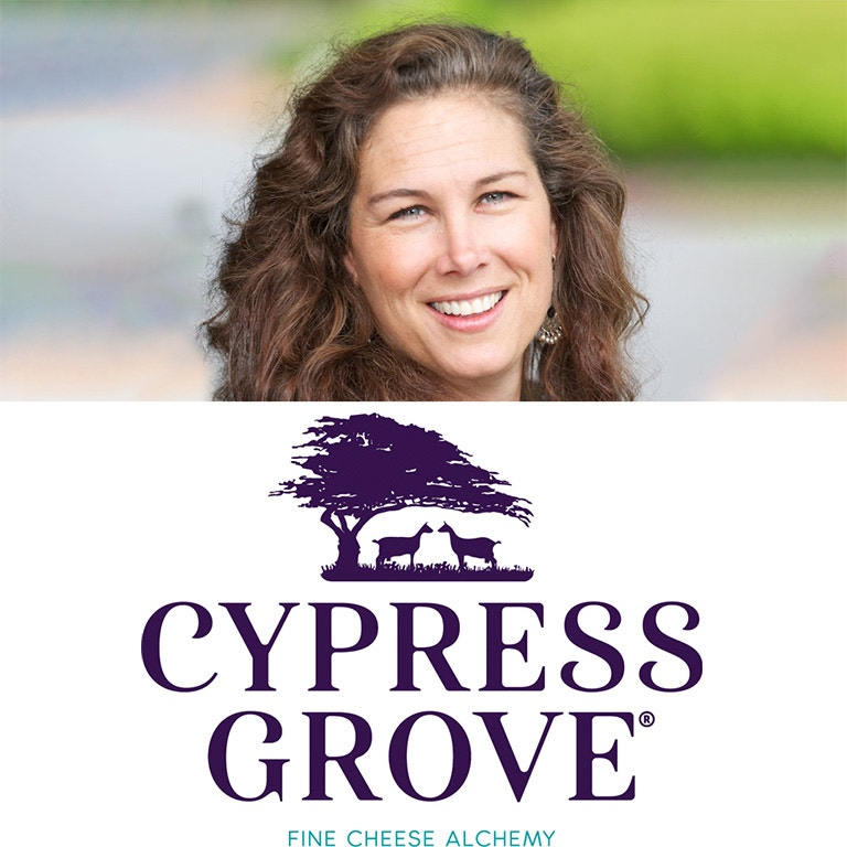 Cypress Grove Marketing Director, Christy Khattab photo image and logo