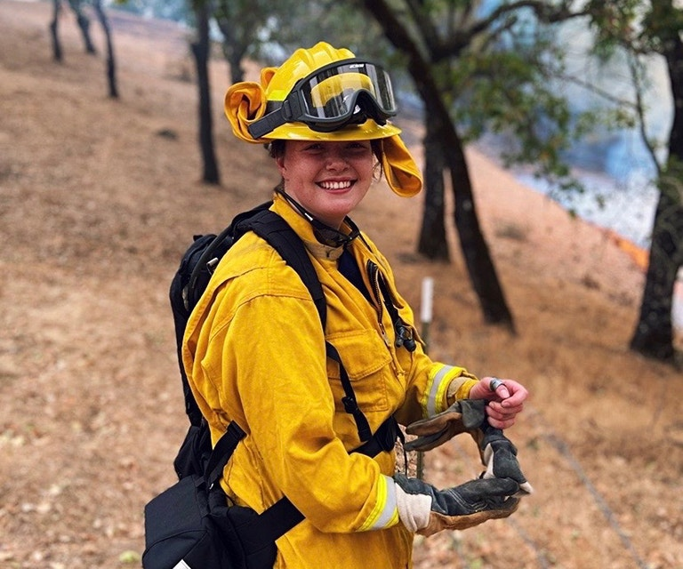 Leah Kelly, Rutherford Volunteer Firefighter image photo