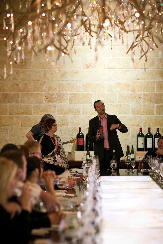 Wine Education in the Chandelier Room