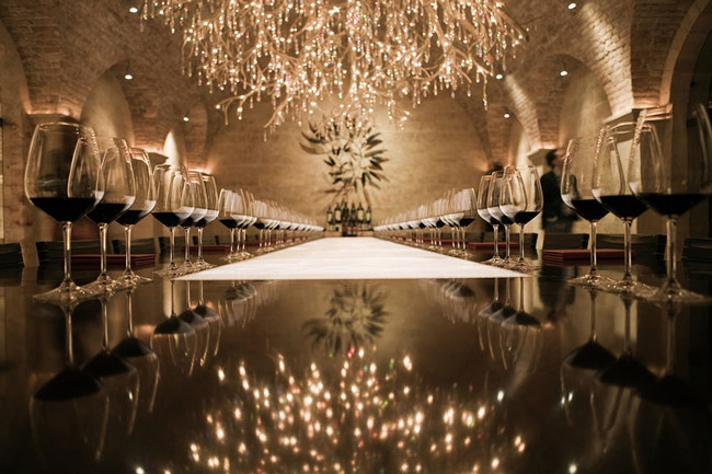 Rutherford Chandelier Room Napa Valley Hall Wines