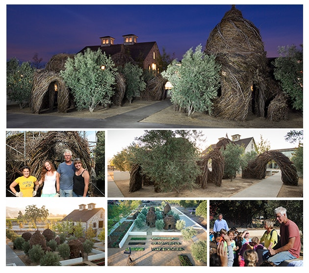 Patrick Dougherty Installation at HALL Wines