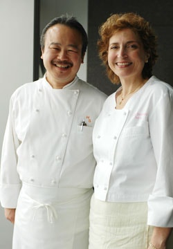 Chef Hiro Sone and Lissa Doumain