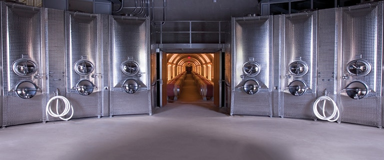 Tradition Meets Innovation - Hall Rutherford Fermentation Tanks and cave