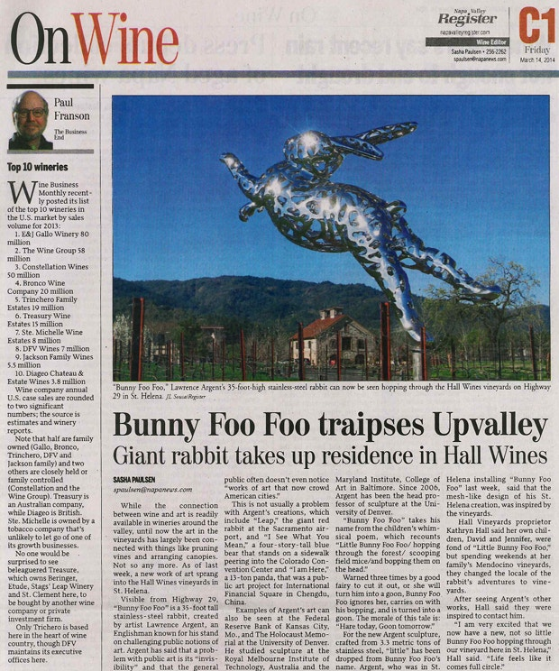 Bunny Foo Foo article - Napa Register