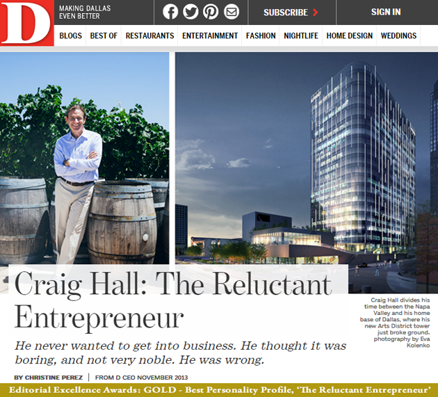Craig Hall - The Reluctant Entrepreneur Image from D Magazine
